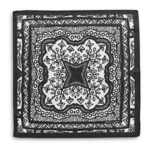 NWT Rebecca Minkoff 100% Silk Black Lace Bandana
